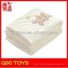 100% poliéster oso de peluche bebé manta fleece bebé mantas de juguete suave