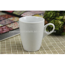 Porcelana atacado por atacado vasos de cerâmica branca caneca e pires