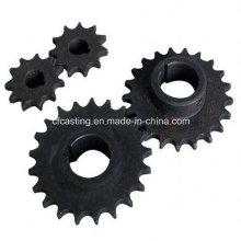 Rueda de engranaje de acero al carbono de piñón de cadena