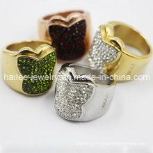 Bijoux en anneau de papillon à la mode en acier inoxydable 2015