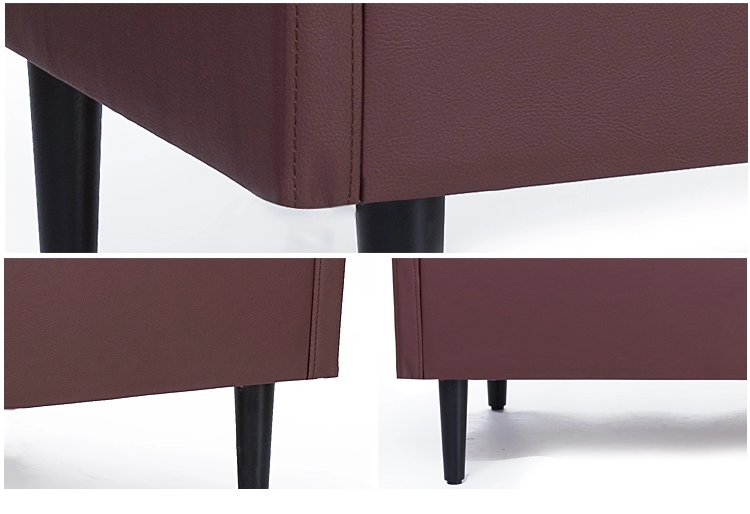 Modern Pu Leather Fabric Restaurant Sofa Wood Booth3