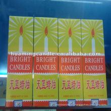 Белая бытовая свеча