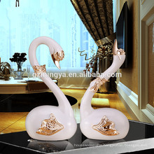 Swan figurines for sale,ornaments for home,opening ceremony gifts resin swan statue