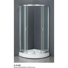 Nuevo estilo 3 puertas deslizantes puerta de la ducha con mejor venta