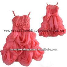 Unique jupe appliqued juffé jupe chaud réel échantillon de la mode de la fille de la fleur de la pastèque CWFaf5321