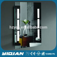 Back lighted Mirror with 2 Vertical Lights One Touch Frame-less LED White Light Mirror