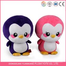 Pinguim de pelúcia personalizado mão boneca de brinquedo de malha