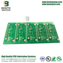 Duas camadas Quickturn PCB Thick Gold