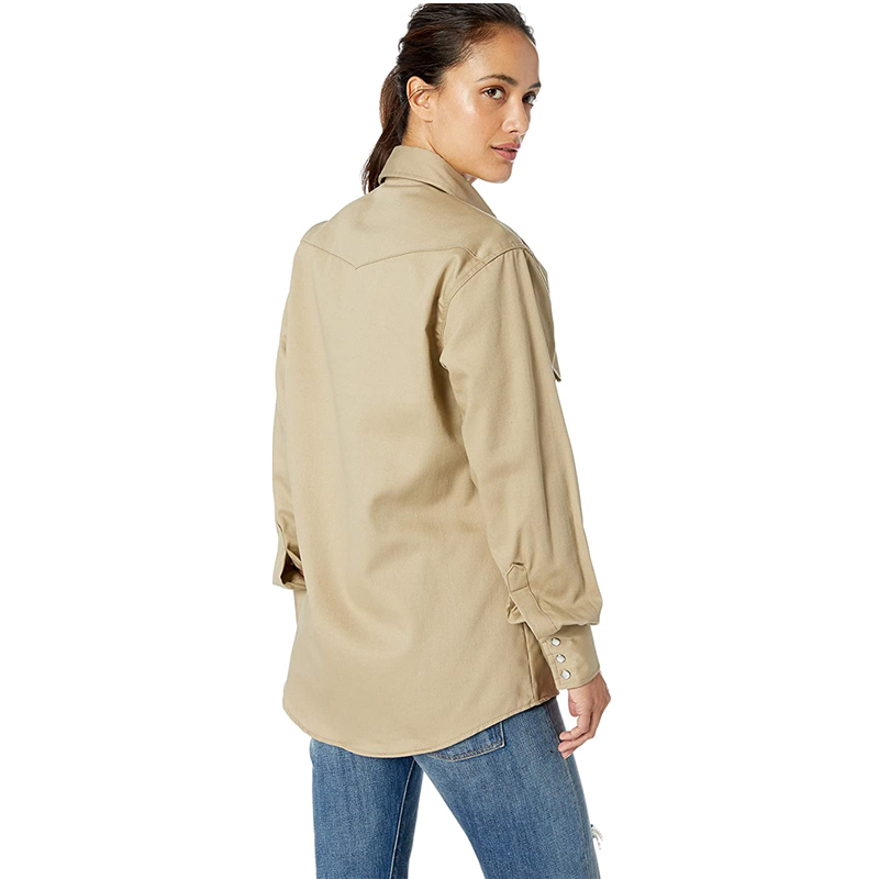 Women S Fr Western Long Sleeve Snap Workshirt3
