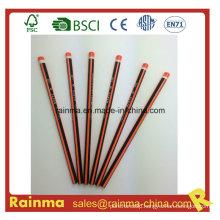 Triangle Neon Color Barrel Hb Wooden Pencil Orange