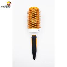 Venda quente novo design profissional cor laranja nylon plástico escova de cabelo de cerdas