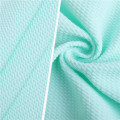 Bubble Twill Jacquard Knitting Women Pajamas Cloth Fabrics