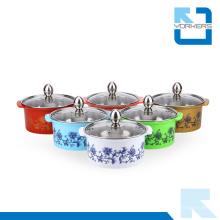 Colorido, aço inoxidável, quentes, pote, estoque, pote, vidro, tampa