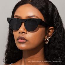 Европейские и американские модные круглые солнцезащитные очки «кошачий глаз», женские солнцезащитные очки WindNet, красные уличные солнцезащитные очки, модные мужские солнцезащитные очки s21184