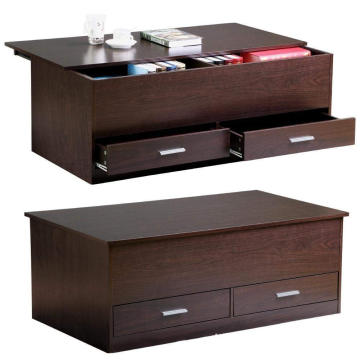 Houten moderne lift top salontafel