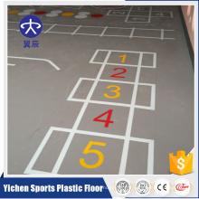 Alibaba Chine Fournisseur Coulorful En Plastique Pvc Sport Flooring Basketball Plancher