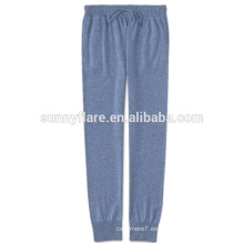 Pantalones de cachemira puros de otoño e invierno para mujer