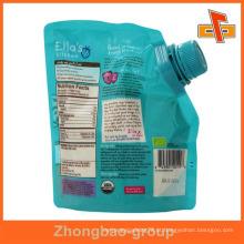 Eco amigável pacote de plástico com bico topo para gelatina bebidas