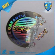 China Goldlieferant qc Pass Hologramm Aufkleber benutzerdefinierte gedruckt Hologramm Laser