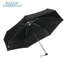 Cheap Pocket Size Euro-Market Logo Promotional Gift Black 5 Foldable Ultra Mini Aluminium Fashion Umbrella Women Umbrellars