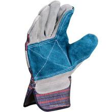 Benutzerdefinierte Leathercraft Arbeitshandschuhe mit doppelter Leder-Handfläche und Sicherheitsmanschette