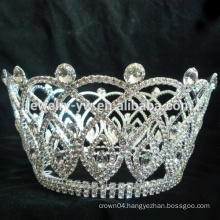 wholesale tiara mini tiara rings crown shaped pageant tiara crown