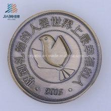 Morre a moeda feita sob encomenda do bronze do logotipo do ofício do metal da carcaça para o presente da lembrança