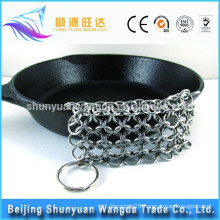Food grade Cleaner XL 7*7 Inch Premium Stainless Steel Chainmail Scrubber