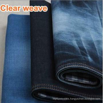 Cotton Twill Indigo/Black Denim Fabric