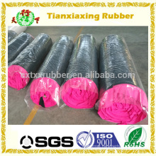 colour polyester fabric rubber rolls, fancy fabric rubber rolls