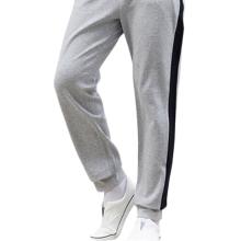 Pantalones deportivos de algodón a rayas laterales informales personalizados para hombre