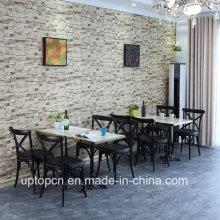 Современный обеденный x задняя деревянный стул и стол для ресторана (СП-CT843)