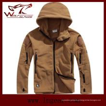 Casacos de inverno Coldproof velo Windproof exterior jaquetas moda homens jaquetas Tan