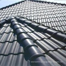 Mais Populares Rosa Vermelho Interlocking Ceramic Roof Tile