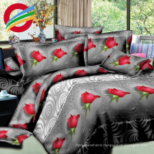 fabric printed home textile wholesale bed sheet set stock