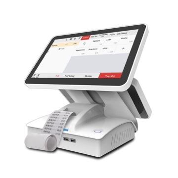 Dual Screen Monitor Android Pos mit Drucker