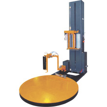 Full automatic pallet wrapping machine with weighing device