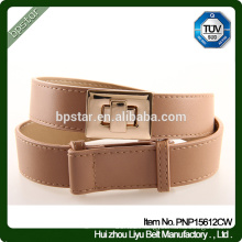 PU Women Belts without Holes Cintos Fashion for Lady Dress Cinch Adjustable Skinny Straps
