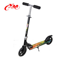 large wheel kick scooter with led light , cheap price 2 front wheel kick scooter , kick scooter with two 200mm wheels