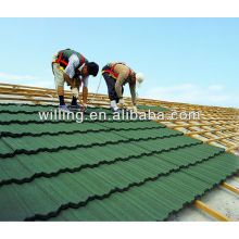 2014 high quality colorful stone coated metal rofing tile/roman metal roofing