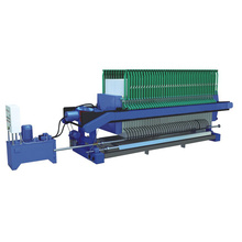 Filter press of sewage treatment plant