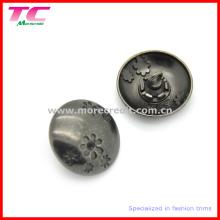 Botão de costura do metal decorativo da forma para a roupa