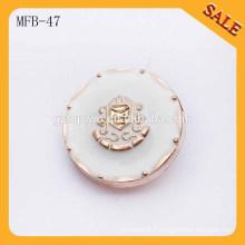 MFB47 mode boutons métalliques occidentaux boutons métalliques de motif d'ancrage 1 pouce