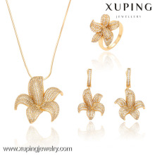 63229-Xuping Crystal Engagement Noble Costume Jewelry Set de lujo