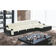 Sofá de couro moderno, L sofá reclinável da forma (GB08)