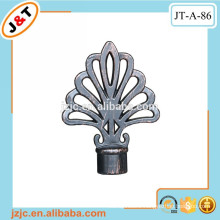drapery hardware flexible 16/19mm diam painting curtain rod with decorative metal finials