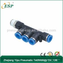 Raccord de tuyau pneumatique à une branche Triple Branchement ESP PKB