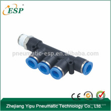 ESP PKB Male Triple Branch pneumatic one touch tube fitting