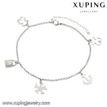74510 tobillera de la joyería del acero inoxidable de la imitación de las mujeres más nuevas de la cerradura del rodio de la manera