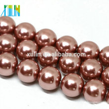 10mm round pink natural shell pearls beads for sale